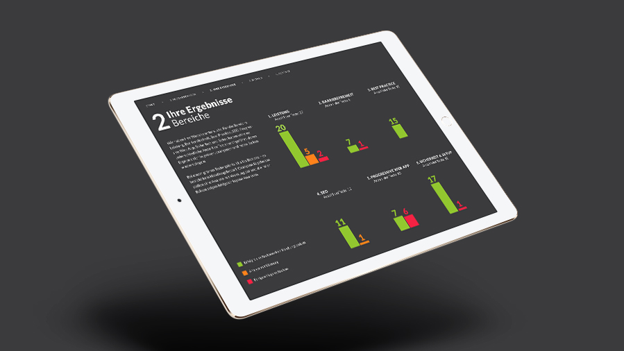 iPad das den Download des byteReport zeigt
